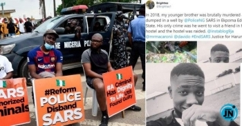 Man shares sad story of how his brother was killed by SARS officers in 2018
